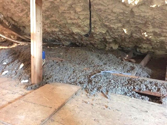 Spray Foam Insulation Roof Deck Cellulose Attic Floor